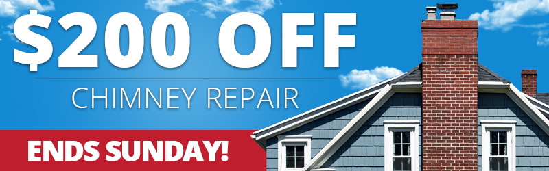 $200 off chimney repair