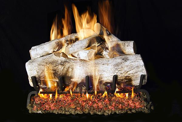mountain birch gas log