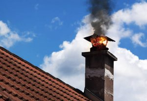 putting out a chimney fire
