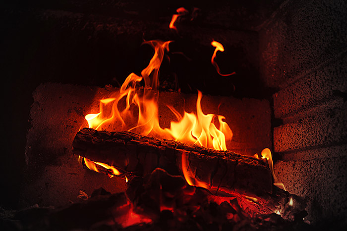 convert a gas fireplace to wood