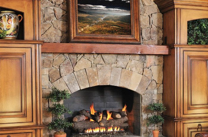 mantel fireplace