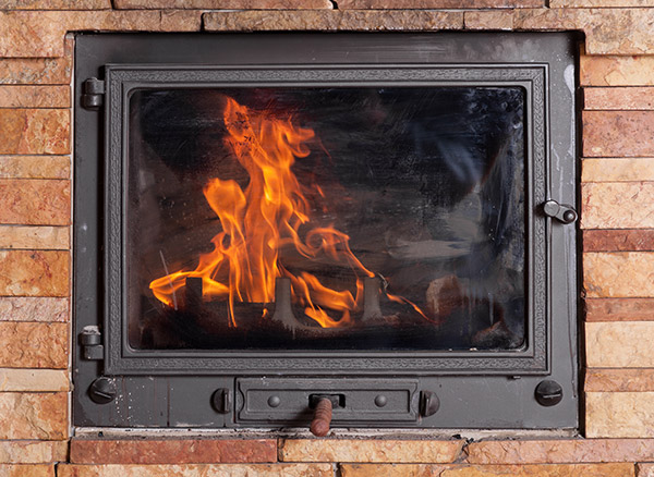 clean your fireplace doors