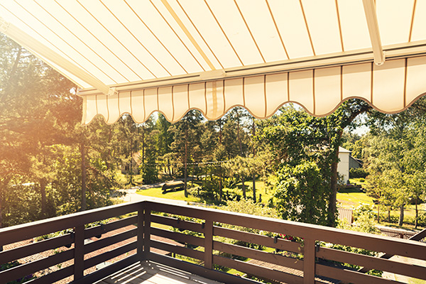 cleaning awnings will keep your patio beautiful