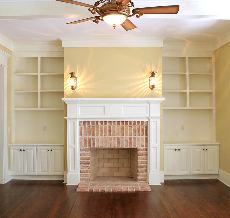 fireplace built-ins shelf