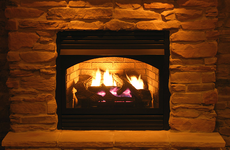 gas fireplace cleaning