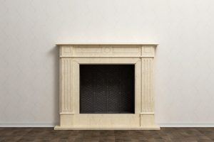 fireplace surround painting