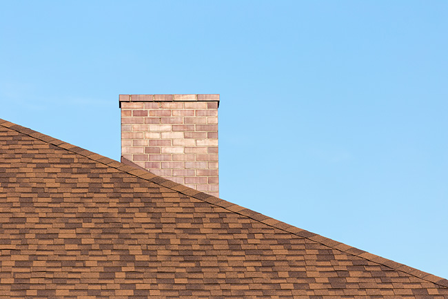 red tall brick chimney