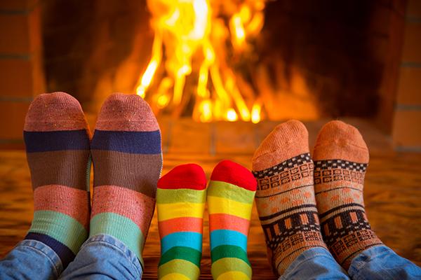 seasonal fireplace for the holidays