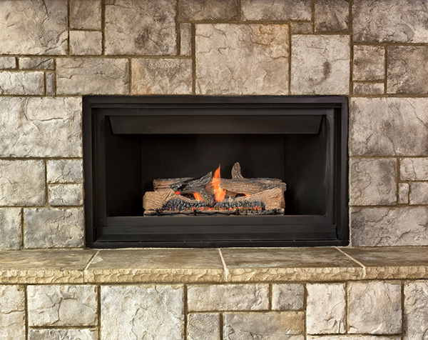 wood-burning fireplace to gas
