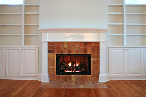 gas fireplace inside a living room
