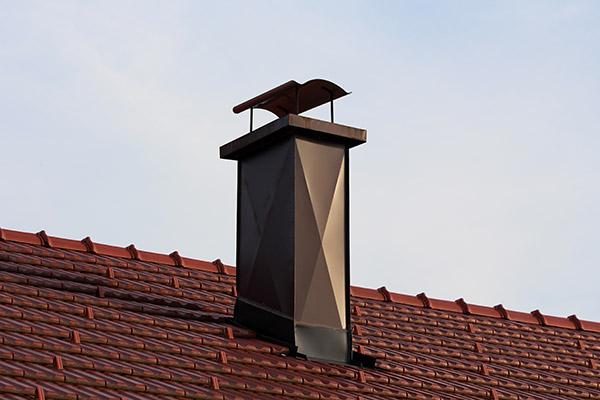 modern house chimney