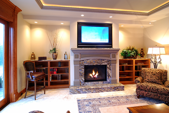 How To Mount A Tv Over A Fireplace Early Times
